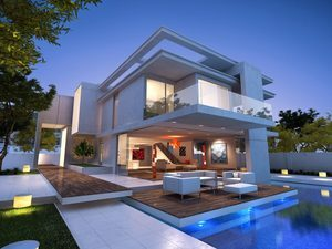 Elegant Modern Luxury House Wallpaper